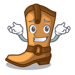 Grinning cowboy boots isolated in the mascot