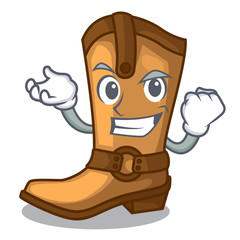 Successful cowboy boots isolated in the mascot