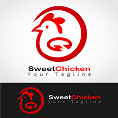 This logo has a picture of a chicken. This logo is good for use by a company and business. Or it can also be used as an application logo and various other creative businesses.