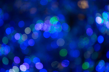 Colorful Abstract Violet and Blue bokeh background. 2019.