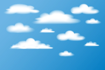 illustration clouds in the sky