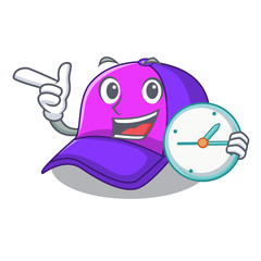 With clock isolated cap in the a mascot