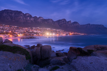 Cape Town. View to Camps Bay and Oudekraal from Clifton