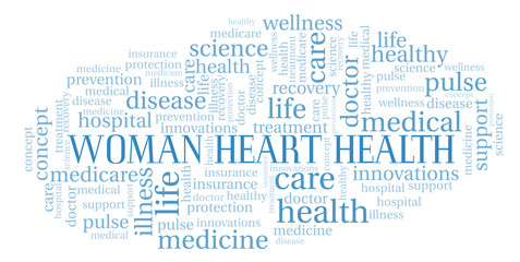 Woman Heart Health word cloud.