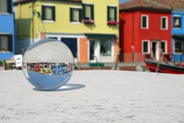 glass sphere in Burano Island near Venice