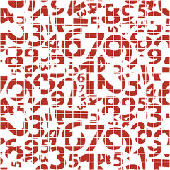Abstract Background with Numbers Pattern