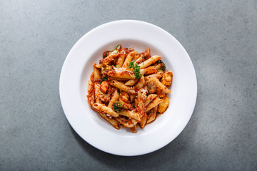 Penne Pasta in Tomato Sauce - Horizontal Image