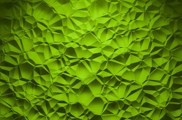 3D Illustration - green brilliant triangle pattern Background 2