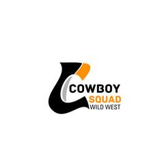 Cowboy squad vector letter C icon