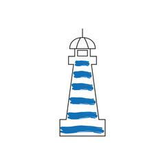 Lighthouse logo design template icon vector illustration.