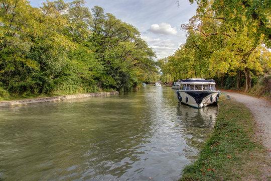 Canal du Midi - Carcassonne - Aude - France