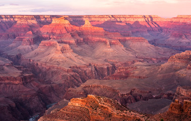 USA, Arizona, Grand Canyon National Park, Grand Canyon in the evening