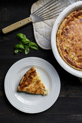 Cheese Quiche - top view