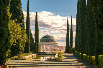 Historical Gazebo, Conception garden, jardin la concepcion in Malaga, Spain Wall mural