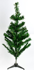 Christmas tree and Christmas symbols on a white background