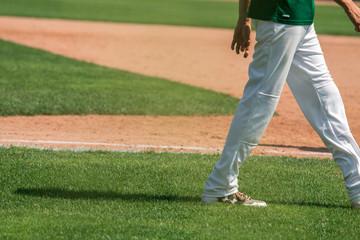 Baseball player walking