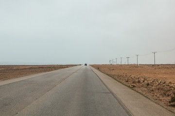 Fotobehang The roads and scenery near Salalah, Dhofar Province, Oman, during Khareef monsoon season