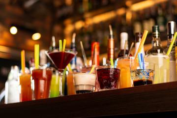 a lot of drinks on bar Fototapete