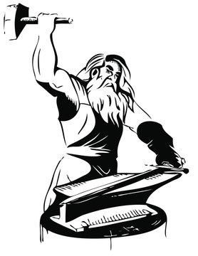 Thor god of iron