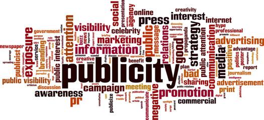Publicity word cloud