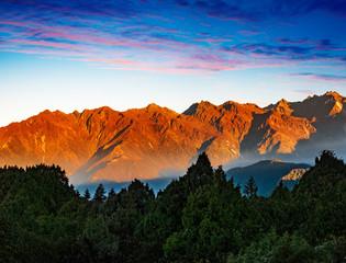 Nepal Helambu mountain range sunrise