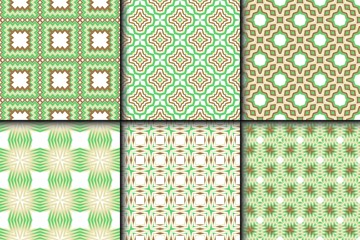 Set of Vector seamless pattern with abstract geometric style. Repeating sample figure and line. For fashion interiors design, wallpaper, textile industry