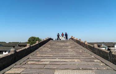 Tangxi ancient town,Stone Arch Bridge in Hangzhou Ancient Town, China