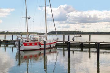 Sailing on the island Ruegen, Mecklenburg Western Pomerania - Germany