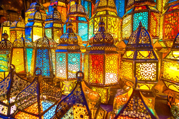 Amazing Arabian lamps, Cairo, Egypt