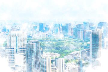 東京風景 Tokyo city skyline , Japan