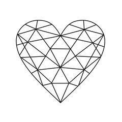 Fototapeta serce diament brylanty miłość obraz