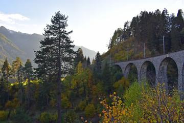 Viaduct in Switzerland near Davos