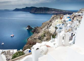 Traditional architecture and Santorini island Greece