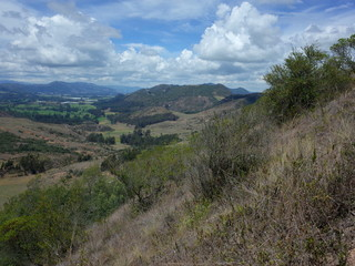 A view of the countryside around Suesca, Colombia