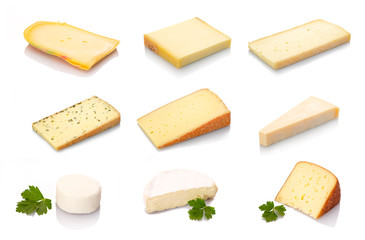 Verschiedene Käse Sorten