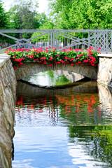 Brücke im Kadriorg Park, Tallinn, Estland