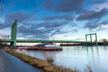 Cologne Rodenkirchen Bridge in Germany
