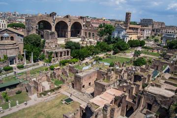 Overlooking Roman Forum