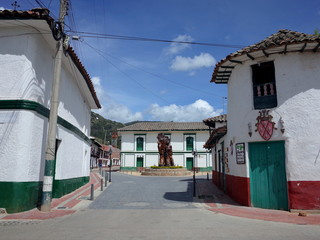 The pretty town of Iza in Boyaca, Colombia