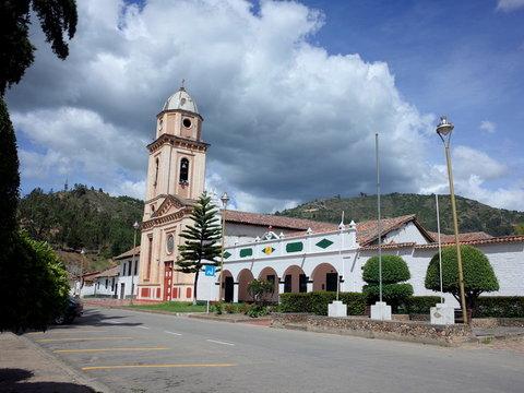The pretty town of Iza in Boyaca, Colombia