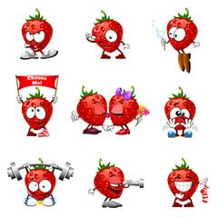 Smile strawberry food