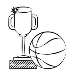 trophy award basketball ball doodle