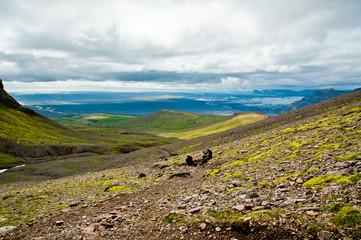 Die Pause ist wichtig beim wandern auf Island