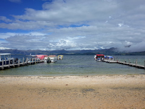 Playa Blanca on the shores of Lago Tota in Colombia
