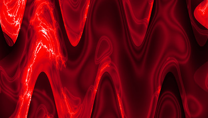 Equalizer background in bright red color. Abstract smooth color wave.