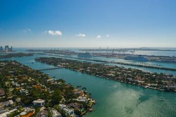 Printed kitchen splashbacks Australia Miami Venetian Islands and Port Miami