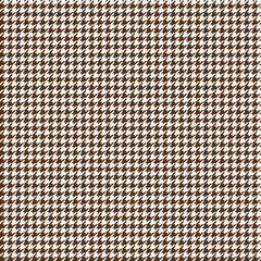Houndstooth Seamless Pattern - Classic brown and white houndstooth texture