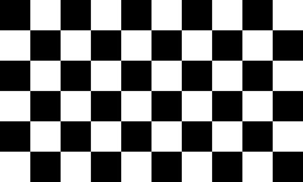 Black and white checkered seamless pattern. Endless background. Racing flag texture