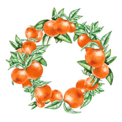 Oranges wreath.