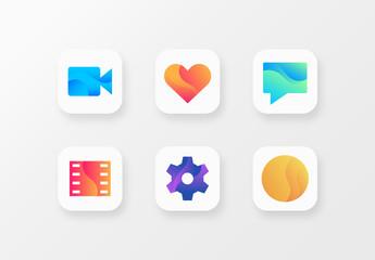 Gradient App Icon Set